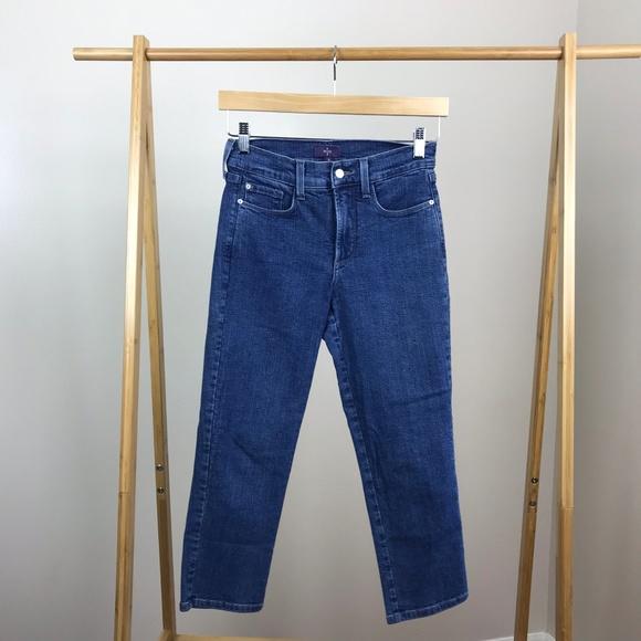 NYDJ Denim - NYDJ • Crop Jeans Lift Tuck Size 0 Medium Wash